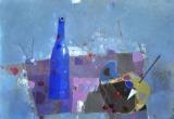 Натюрморт с Синей бутылкой   холст, масло   60 х 80   -   2012 г.