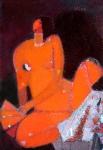 Обнажённая и веер  х.м. 40 - 30  - 2008 г.