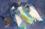 Ночной Ангел  х. м. 31 х 46,5  - 2003 г.