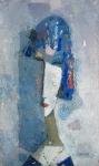 Девушка с ожерельем -2   ватман, масло. 42 х 25  - 2009 г.   (Продано).