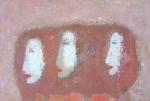 Три женщины в профиль.  холст на картоне. 40 х 60  - 2009 г.  (Частная коллекция. Франция)