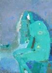 Русалка   ватман, масло. 42 х 30  - 2010 г.     (Продано).