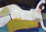 Вечерний сеанс  ватман, масло. 21 х 30  - 2008 г.   (Продано).