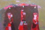 Нарядные девушки  х.м. 50 х 70  - 2009 г.  (Продано).