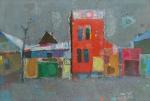 Март на моей улице.  холст на картоне 40 х 60  - 2009 г.   (Продано).