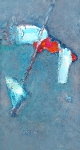 Музыкант  ватман, масло. 30 х 16  - 2006 г.