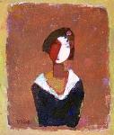Девушка в раме  ватм. масло. 25 х 21  - 2008 г.   (Продано).