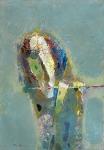 Флейтист.  ватман, масло. 42 х 30  - 2009 г.   (Продано).