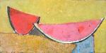 Скибки арбуза  ватман, масло 36 х 71  - 2008 г.   (Продано).