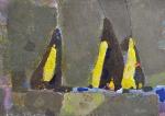 Груши   ватман, масло. 30 х 42  - 2010 г.   (Продано).