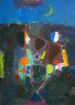 Ночной Сад  ватман, масло. 42 х зо  - 2009 г.
