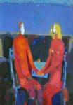 Мужчина и Женщина.   ватман, масло  42 х30  2010 г.      (Продано).