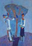 Сливовое дерево.    ватман, масло. 42 х 30     -   2010 г.    (Продано).
