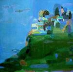 Тишина, 120х120, холст, масло - 1990