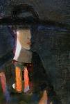 Вечерний портрет, 60х41, картон, масло - 1997г