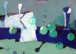 Зелёные Яблоки, 64х90, холст, масло - 2001г