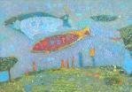 Рыбы и сети  картон, масло, ?  1999 г.