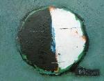 Луна  картон, масло 17 х 21,5  - 2003 г.