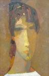 Портрет на золотом фоне  х.м.  68 х 45 - 2000 г.