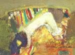 Спящая (обн. на диване) х. м. 28 х 37 - 1997 г.