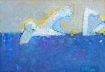 Пловец  ватман, масло. 21 х 29,5  - 2006 г.
