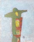 Незнакомка  ватман, масло 42 х 30  - 2006 г.