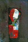 Курильщик трубки ватман, масло. 21 х 14  - 2006 г.