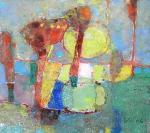 Отражённое Солнце  Ватман, масло.  21 х 22  - 2006 г.