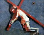 Несущий Крест  х.м. 75,5 х 95  - 2006 г.