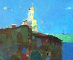 Пейзаж с Церковью  х.м. 56 х 66  - 2006 г.