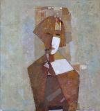 Вера с рюмкой  х.м. 84 х 80  - 2005 г.