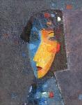 Раскосая девочка  к.м. 50 х 36  - 2005 г.
