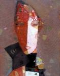 Девушка с шарфом  х. на к. 45 х 35  - 2007 г.