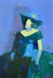 Ира Чумак (Леди в зелёном)   х.м. 135 х 91 - 2006 г.