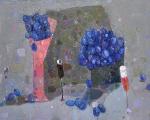 Чёрные Сливы.   холст, масло 57 х 72,5   -  2010 г.